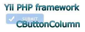 yii php CButtonColumn