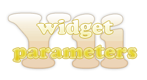 yii widget parameters