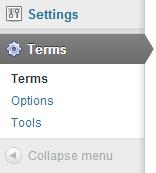 terms descriptions menu