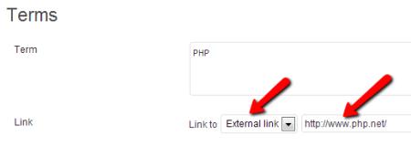terms descriptions external link